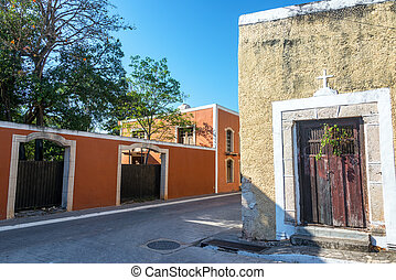 Street in Valladolid, Mexico - Street view in the historic...
