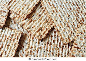Matzo for Jewish Holiday Passover, an unleavened flatbread...