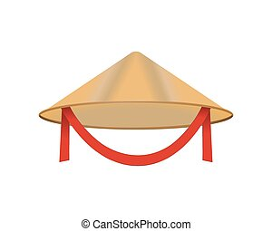 Chinese conical straw hat vector asian vietnamese...