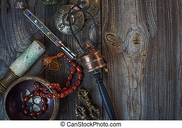 Antique items for alternative medicine