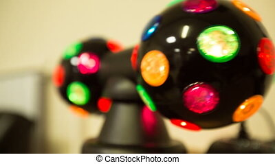 colored bright soundlights closeup - soundlights closeup....