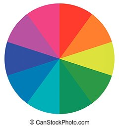 template wheel fortune, color palette, vector - template...