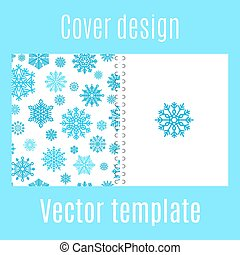 Cover design with winter snowflake pattern - Cover design...