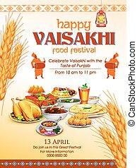 Happy Vaisakhi Punjabi festival celebration background -...