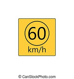 Prescribed minimum speed road sign - Prescribed minimum...