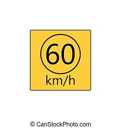 Prescribed minimum speed road sign - Prescribed minimum...