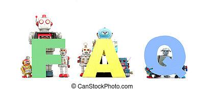 abbreviation - the  abbreviation,  FAQ held by retro robots
