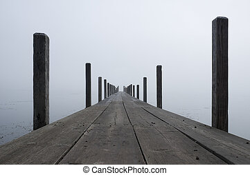Boardwalk with Fog