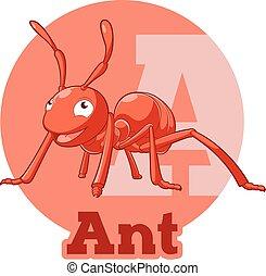 ABC Cartoon Ant - Vector image of the ABC Cartoon Ant