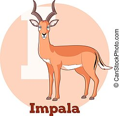 ABC Cartoon Impala - Vector image of the ABC Cartoon Impala