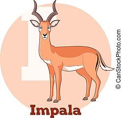 ABC Cartoon Impala - Vector image of the ABC Cartoon Impala