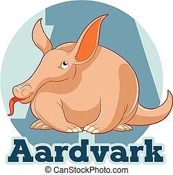 ABC Cartoon Aardvark - Vector image of the ABC Cartoon...