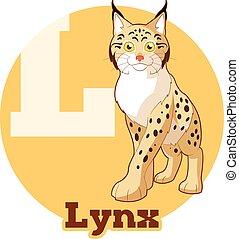 ABC Cartoon Lynx - Vector image of the ABC Cartoon Lynx