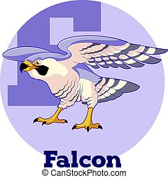 ABC Cartoon Falcon - Vector image of the ABC Cartoon Falcon