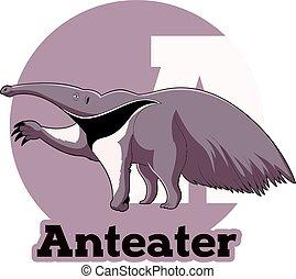 ABC Cartoon Anteater - Vector image of the ABC Cartoon...