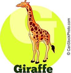 ABC Cartoon Giraffe - Vector image of the ABC Cartoon...