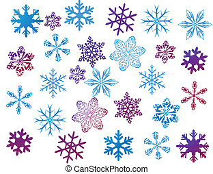snowflakes on white
