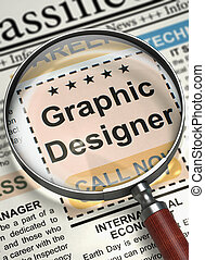 Graphic Designer Join Our Team. 3D.