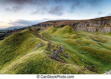 Llangattock Escarpment in the Brecon Beacons - Rugged...