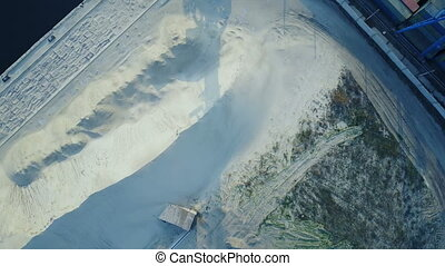 Aerial survey of cargo port - Aerial survey of a cargo port...