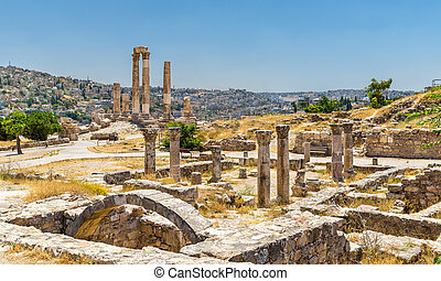 Ruins of the Byzantine Church at Amman Citadel in Jordan