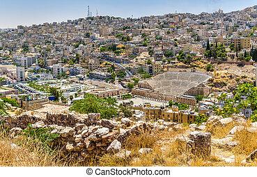 View on Roman Theater in Amman - Jordan