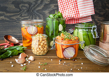 Fermenting fresh vegetables - Frementing fresh vegetables...