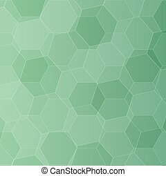 Background with green honeycombs. Vector illustration