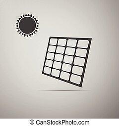 Solar energy panel icon.