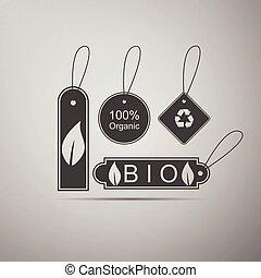 Eco tags icon.