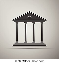 Courthouse icon. Vector illustration