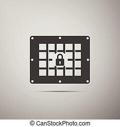 Prison window icon.