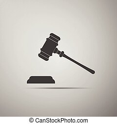 Gavel - hammer of judge or auctioneer icon (judge gavel).