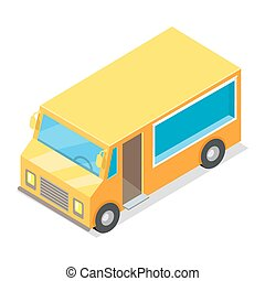 Yellow Waggon for Implementation of Street Food - Yellow...