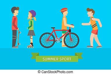 Summer Sport. Children on the Playground - Summer sport....