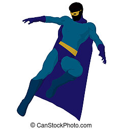 Super Hero Illustration Silhouette - Super hero silhouette...