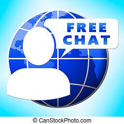 メッセージ, イラスト, 無料で, チャット, インターネット, 3D, ショー