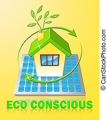 Eco Conscious Displays Environment Aware 3d Illustration
