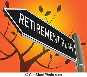 Retirement Plan Representing Elderly Pension 3d Illustration...