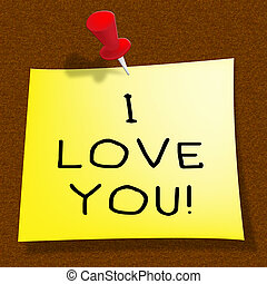 Love You Representing Loving Your Heart 3d Illustration