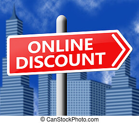 Online Discount Showing Web Reductions 3d Illustration