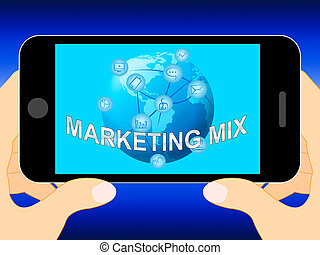 Marketing Mix With Place Prices Product 3d Illustration -...