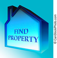 Find Property Shows Home Search 3d Rendering