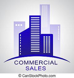 Commercial Sales Describing Real Estate Buildings 3d...