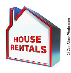 House Rentals Means Real Estate 3d Rendering - House Rentals...