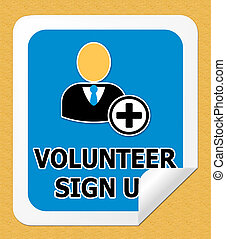 Volunteer Sign Up Shows Register 3d Illustration