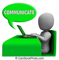 コミュニケーション, 世界的である, コミュニケートしなさい, レンダリング, 3D, 泡, ショー