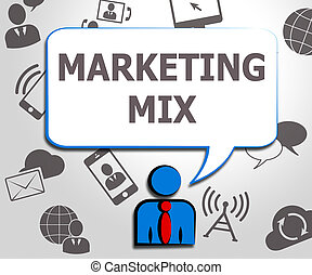 Marketing Mix Place Price Product 3d Illustration -...