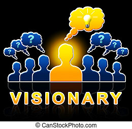 Visionary People Represents Strategist And Ideals 3d...