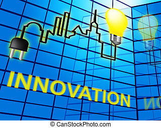Innovation Lightbulb Shows Reorganization Transformation 3d...